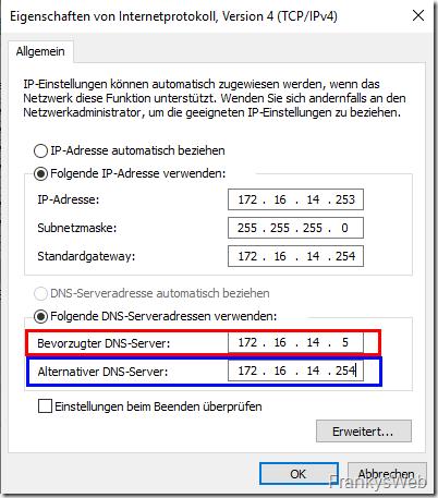 Migration: DNS Server ist kein DC