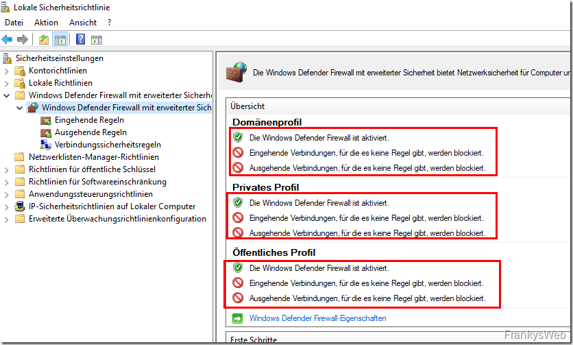Windows Firewall Sicherheit
