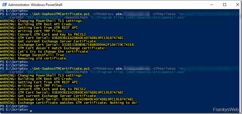 Sophos UTM: Zertifikat der WAF mittels PowerShell exportieren (Exchange Version)