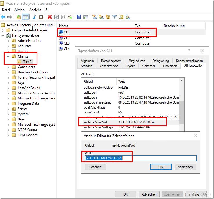 Active Directory Passwort