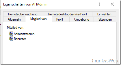 Admin Host Lokale Benutzer
