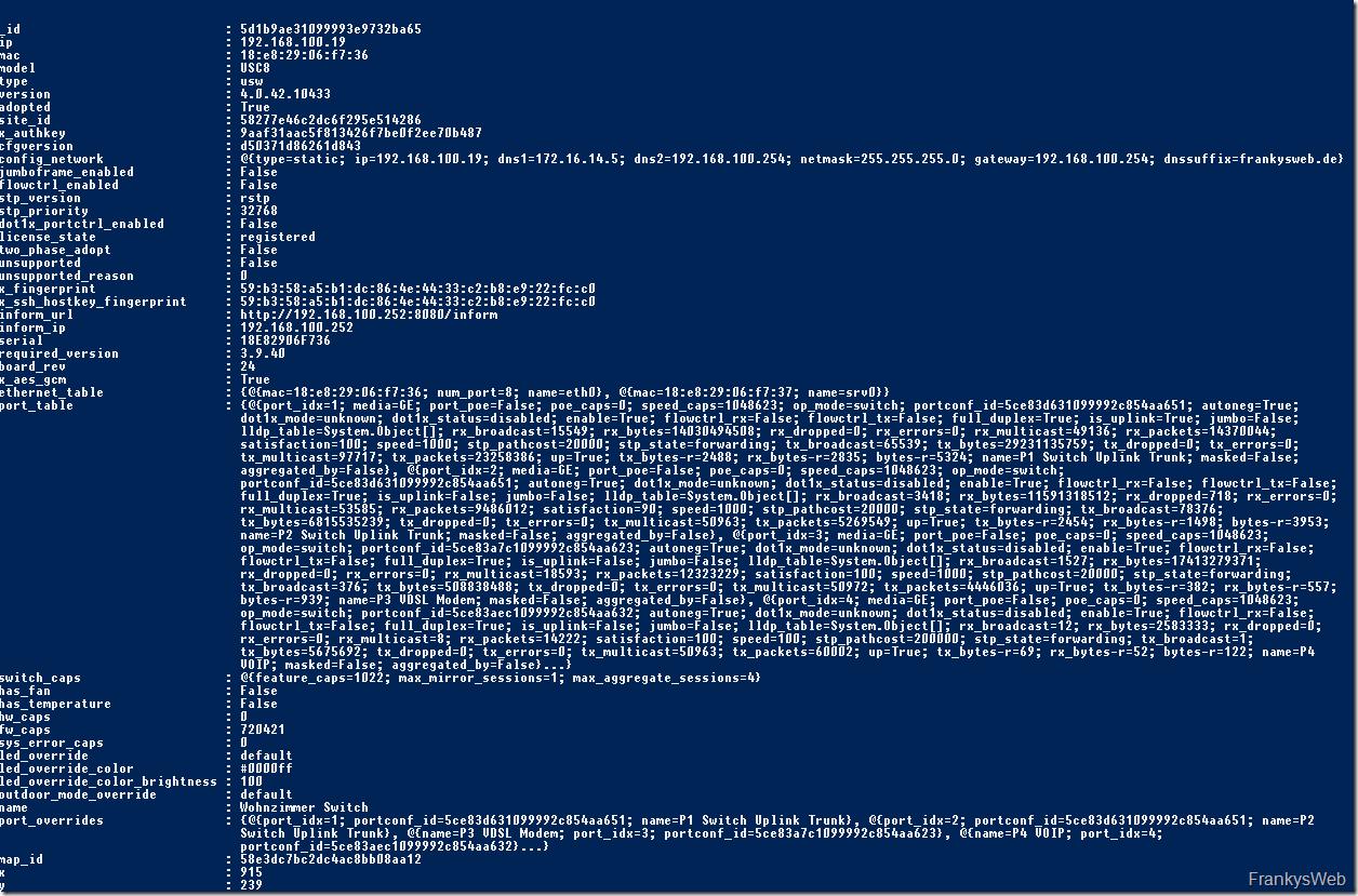 Unifi Controller API