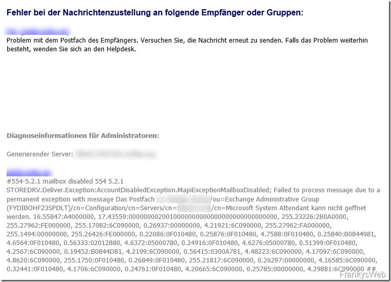 QuickTipp: NDR nach Wiederherstellung von Verteilergruppen oder Postfächern