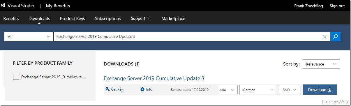 Neue Updates für Exchange Server 2016 und Exchange 2019 (September 2019)