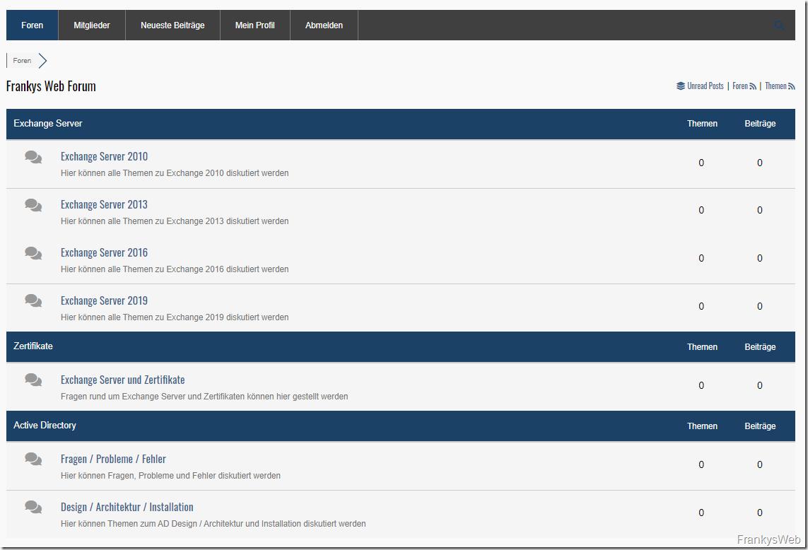 FrankysWeb hat jetzt ein Forum