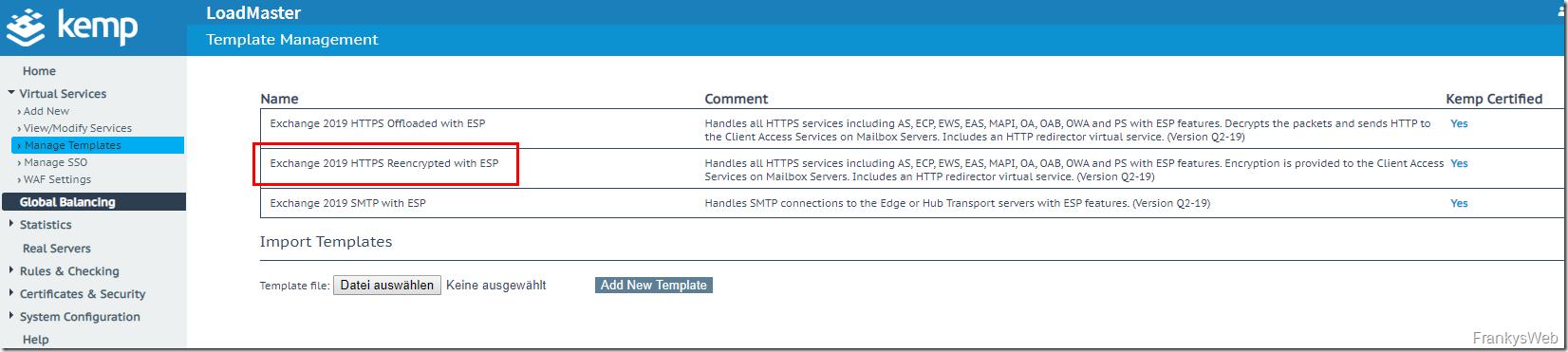 Howto: Exchange 2019 und Kemp Loadmaster mit ESP