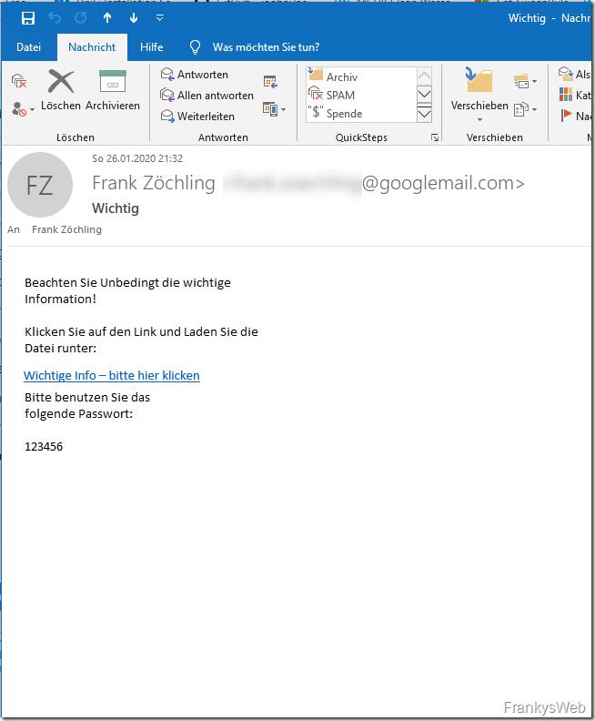 Tipp: Nicht zu sehr auf den Spam-Filter verlassen