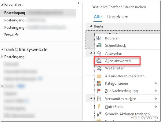 """QuickTip: """"Allen antworten"""" Mailflut verhindern"""