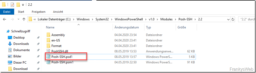 QuickTipp: Posh-SSH Modul auf Windows Server 2019
