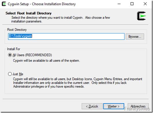 Cygwin Installation