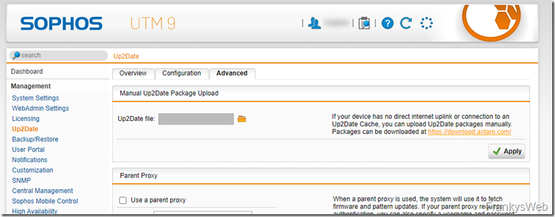 Sophos UTM: Neues Update verfügbar (9.704-2)