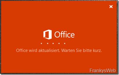 Office wird aktualisiert
