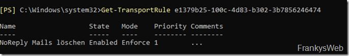 Exchange Server: Welche Transportregeln werden auf eine Mail angewendet?