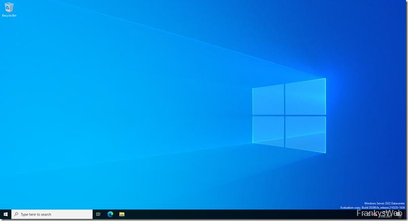 Windows Server 2022 Desktop