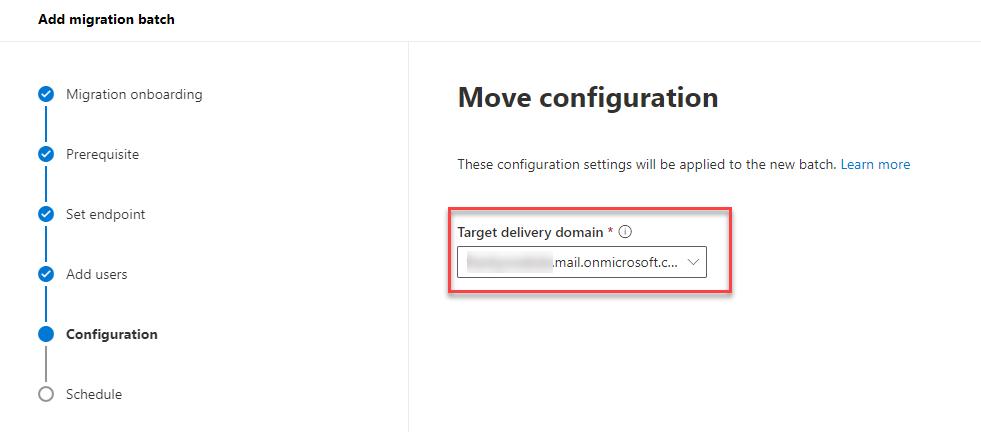 Migration Batch mit richtiger Target Delivery Domain
