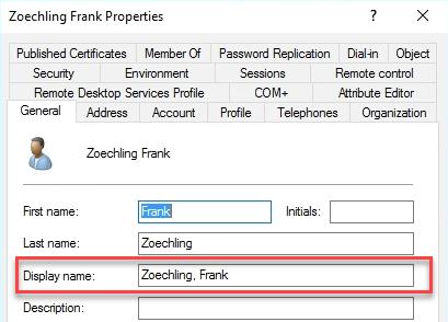 Exchange Server: Anzeigenamen für externe Mails ändern