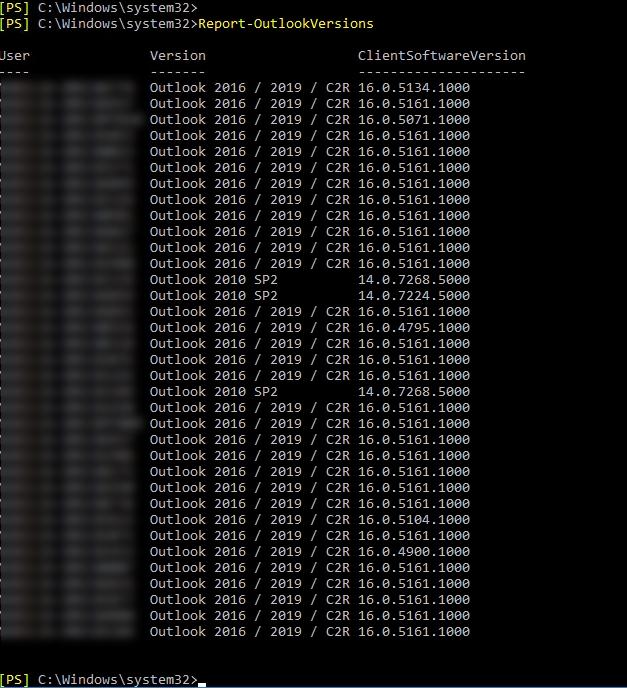 Outlook Version aus Exchange MAPI Log auslesen