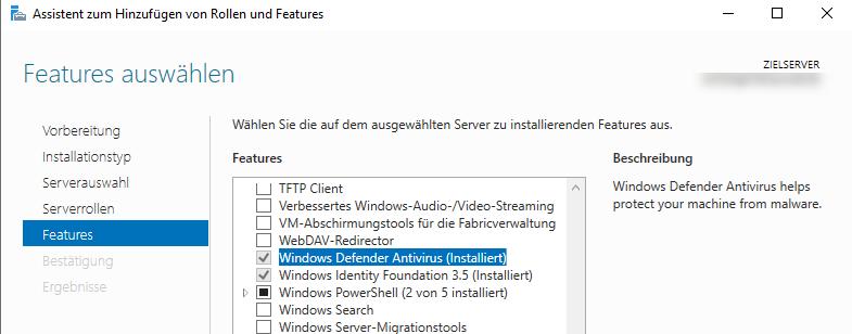 Windows Defender Feature