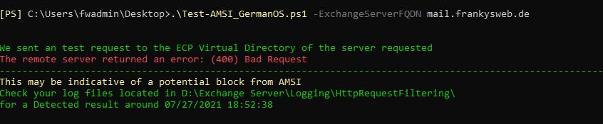 AMSI Test Script