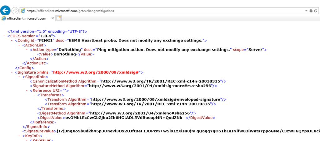 Emergency Mitigation XML