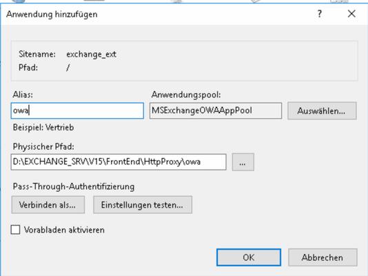 OWA als APP auf IP 2